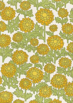 A Level Art, Pattern Design, Retro, Green, Fabric, Prints, Vintage, Wallpapers, Bujo