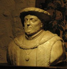 Bust of Henry VIII, Leeds Castle, near Maidstone, Kent, England