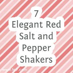 Red Salt And Pepper Shakers On Pinterest Salt Pepper