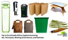 Great eco-friendly products for the office! For more way to turn your office more eco friendly go to: http://www.powerhousegrowers.com/turn-office-eco-friendly/ #TheUrbanLifestyle
