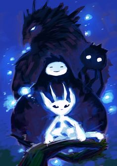 Ori and the Blind Forest fan art by Tumblr user Ghostwalker