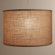Crafted of 100% natural burlap, our exclusive drum shade is an eco-chic and versatile fit for any room in the home. Pair it with one of our floor lamp bases to create the perfect neutral look for your decor, or aim higher by using one of our electrical cord kits to create a unique hanging pendant.