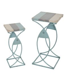 Love this 'Fish' End Table - Set of Two on #zulily! #zulilyfinds