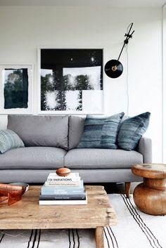 neutral gorgeous living room. Bachelor Pad. #liveitattractively Interior design for men.