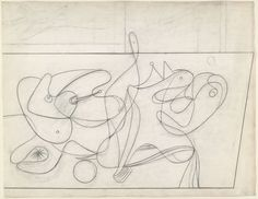 """Study for """"Nighttime, Enigma and Nostalgia"""" By Arshile Gorky"""