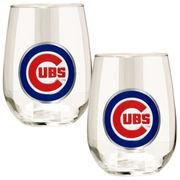 #MLBShop.com - #MLBShop.com Chicago Cubs Stemless Wine Glass Set - AdoreWe.com