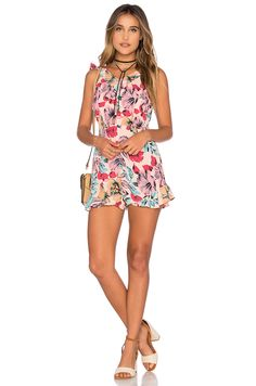 For Love & Lemons x REVOLVE Romper in Floral