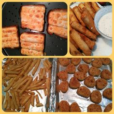 grilled cheese, chicken rolls, fries and chicken nuggets..Rustic yummies