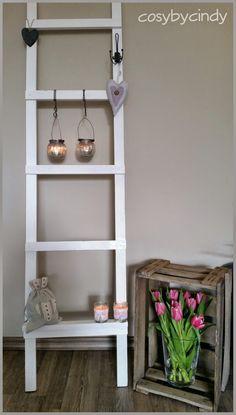 Cosy by Cindy - Altijd iets leuks te vinden: Decoratie ladder voor in huis