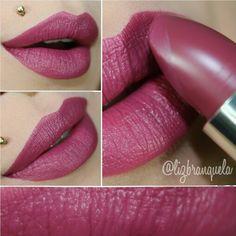 Kiko Velvet Mat color 614 Dark Berry, $9.00 USD http://www.kikocosmetics.com/en-us/make-up/lips/lipsticks/Velvet-Mat---Satin-Lipstick/p-KMMATLIPST10