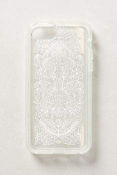 White fine line sharpie and a stencil on a black phone would look amazing