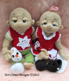Crochet Pattern Loving Snow Doll Clothes Set for So Cute Baby Doll by Teri Crews…