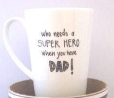 Fab Finds: 12 Father's Day gifts! SUPERHERO DAD MUG via @Down that Little Lane (aka DTLL) #fathersday