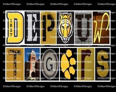 DePauw Tigers Framed Alphabet Photo Art #DePauwTigers