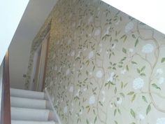 colefax and fowler wallpapers - Yahoo Image Search Results Colefax And Fowler Wallpaper, Summer Palace, Tree Wallpaper, Foyer, Stairs, Snow, House, Hallways, Lancaster