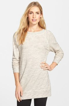 Caslon® Space Dye Tunic Sweatshirt (Regular & Petite) available at #Nordstrom