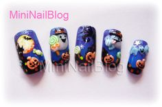 Madly in love with these Halloween nails!!