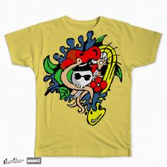 Doodle Skull Color on Threadless