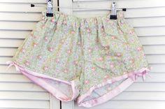 Morose Rose Sleeping Shorts ~ Parisian Flea Market Collection ~ Women's Sleepwear, Pyjamas, boxer shorts lingerie loungewear sleeping by orchardrose. Explore more products on http://orchardrose.etsy.com