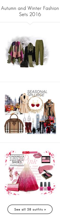 """""""Autumn and Winter Fashion Sets 2016"""" by colonae ❤ liked on Polyvore featuring Emporio Armani, Louis Vuitton, Givenchy, Ralph Lauren, Burberry, Plukka, KDIA, Jeffrey Campbell, Oscar de la Renta and Christian Siriano"""