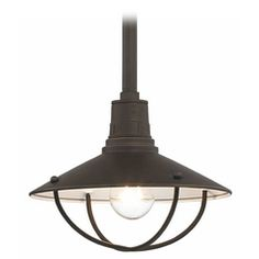 Apex RLM 10-Inch Bolivian Bronze Pendant Light with Cage
