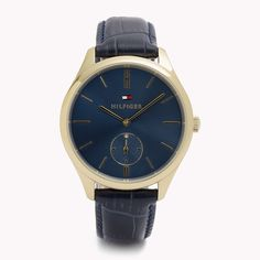 The Leather Strap Watch is the seasons highlight  from the latest Tommy  Hilfiger watches collection 3ee379b97d2