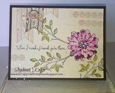 Stampin Up Choose Happiness stamp set card Vintage Birds, Stamping Up, Flower Cards, Homemade Cards, Thank You Cards, Cardmaking, Christmas Cards, Choose Happiness, Paper Crafts