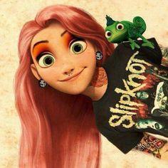 Disney meets Slipknot! Photo by bryanstars #Slipknot