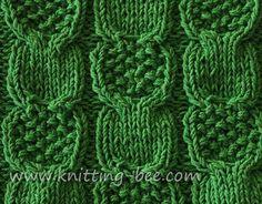 Horseshoe Lace Knitting Stitch – free knitting patterns