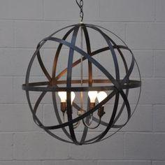 Metal Sphere Lantern / Greige