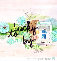 Project Ideas for American Crafts - Amy Tangerine Collection - Rise and Shine - 12 x 12 Double Sided Paper - Rachel Scrapbooking Layouts, Scrapbook Cards, Lucky To Have You, My Side, Studio Calico, American Crafts, Design Crafts, St Patricks Day, Crafty