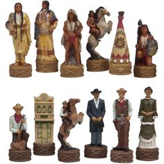 The Old West Alabaster Chess Pieces   Chess Pieces At Hayneedle