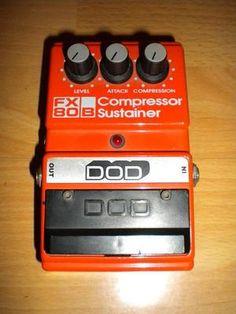 DOD FX80-B Compressor Sustainer Effects Pedal. Vintage. Md in USA.   Izcils agregāts. Pazudis kronas vāciņš, ja kādam ir - nopirkšu!!!