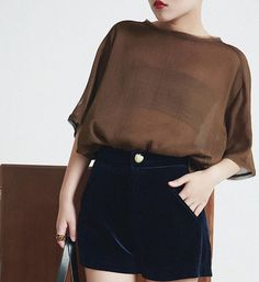 La Chic Parisienne Collection brown sheer back by PurpleFishBowl