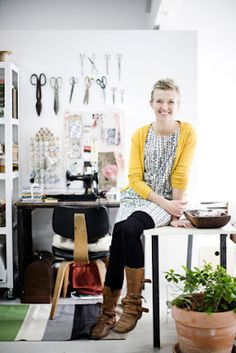 Lotta Jansdotter in her Amazing Home Studio! Check It Out!