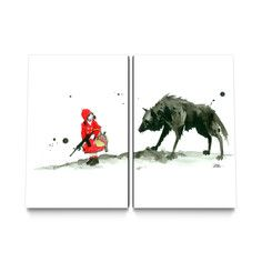 Red Riding Hood Canvas Set, $199, now featured on Fab. - kitcheb