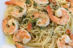 Shrimp Scampi - A Delicious Italian Pasta Dish With Lot's Of Garlic, Win...