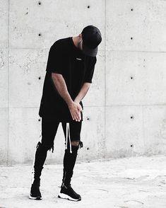 Side Zipper Slim Distressed Jeans Men justin bieber Ripped tore up Jea myshoponline com is part of Streetwear outfit - Moda Streetwear, Streetwear Fashion, Pastel Outfit, Urban Fashion, Boy Fashion, Fashion Tips, All Black Mens Fashion, Street Fashion, Fashion Moda