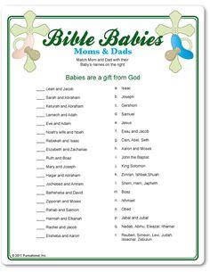 Bible Babies shower game.