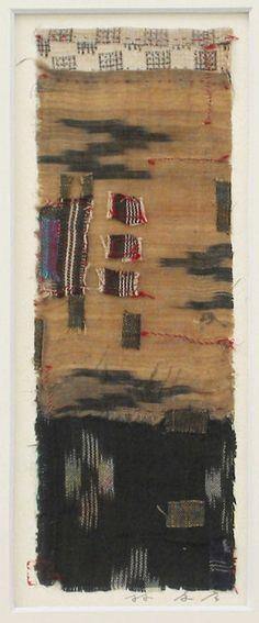 Archipelago-1995(6-3)  The original portfolio by Collage works used Okinawan antique fabrics  HAYASHI Takahiko 1995  furnished data by Gallely SINCERITE