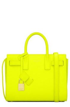 LOVE this Neon Saint Laurent tote!