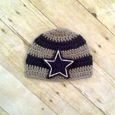 Crochet Baby Dallas Cowboys Beanie
