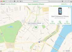 Find Your Missing iPhone With Find My iPhone: Find My iPhone in action on iCloud