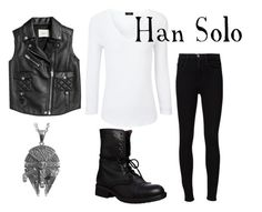 """""""Han Solo"""" by horselover35125 ❤ liked on Polyvore featuring Joseph, Frame, Steve Madden, Coach and starwars"""