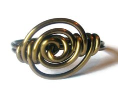 Bohemian Ring - Antique Brass Rose Jewelry - Custom Size