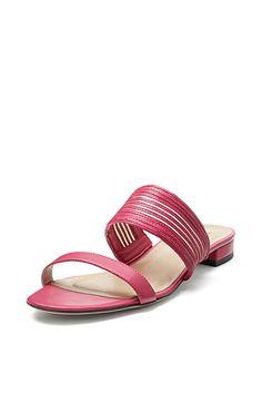 DVF Flavia Mesh Inset Flat Sandal Flat Sandals f9fdfec9cf4