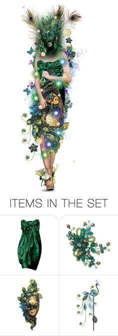 """""""Halloween Party - Peacock"""" by girlinthebigbox ❤ liked on Polyvore featuring art"""