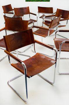 Deze set stoelen zijn design klassiekers (s34) ontworpen door Mart Stam…