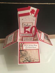 Pop-Up Box Card made by tatjanakreativ Pop Up Box Cards, Card Making, Handmade Cards, Cards To Make, Letter Crafts