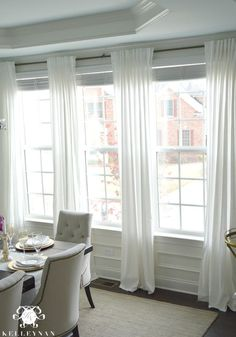 The Favorite White Budget Friendly Curtains Dining Room